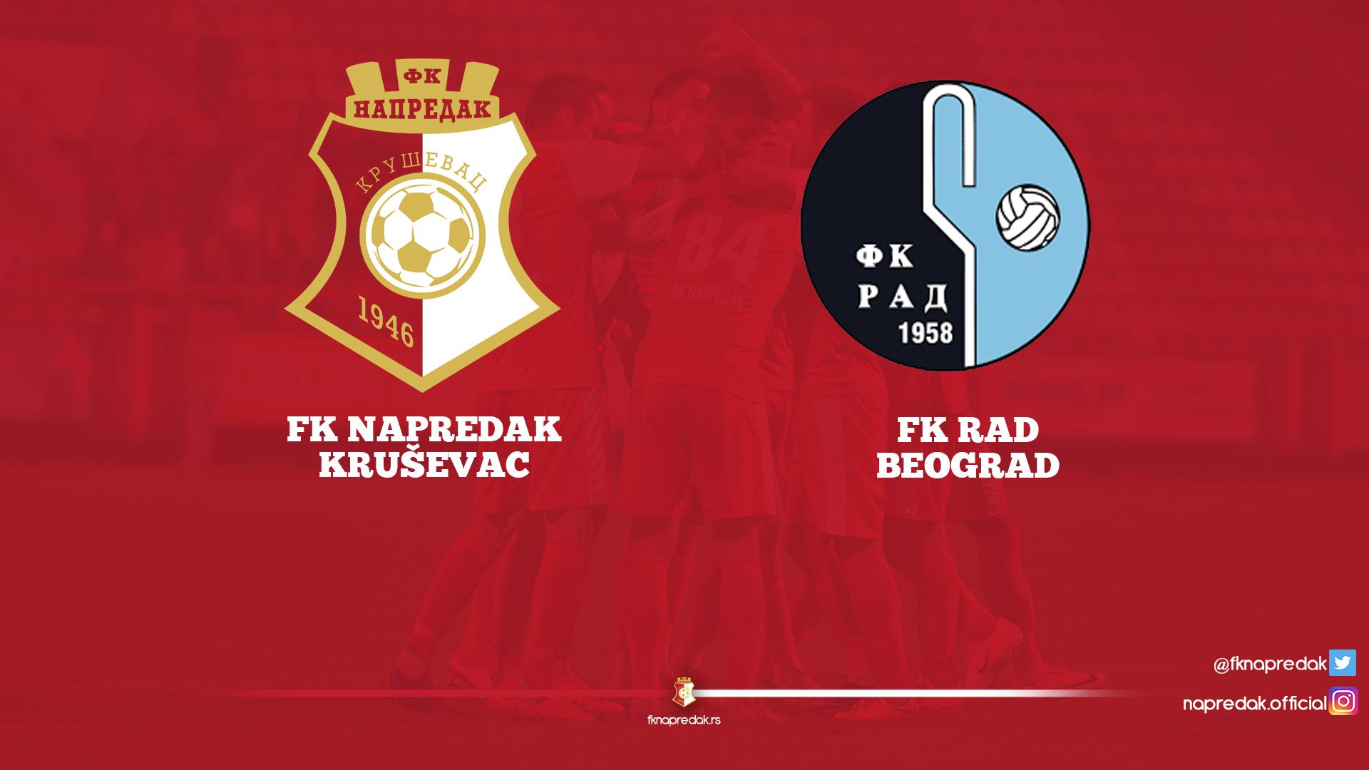 ФК Напредак - ФК Рад 4:0